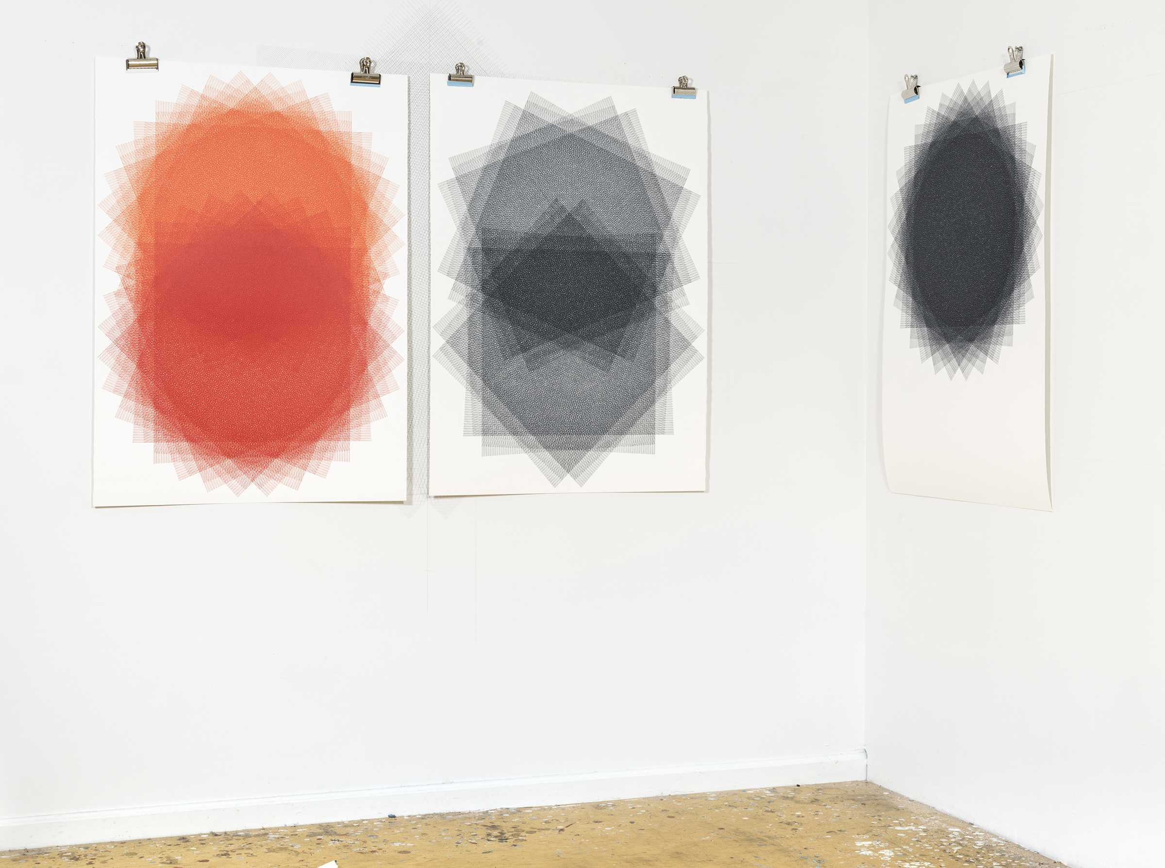 Drawings in Studio, 2017